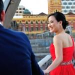 Maria and Stephen - pre-wedding shoot Southbank, Melbourne